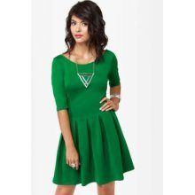 Kelly Green Skater Dress